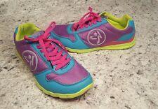 Zumba Fitness Z- Kickz Dance Shoes Lightweight Blue Purple Green Womens 8 EUC