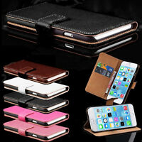 Real Leather Flip Stand Case Cover For Apple iPhone 6 & 6S With Screen Protector