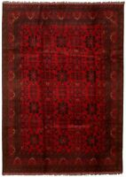 """Vintage Hand-Knotted Carpet 6'7"""" x 9'8"""" Traditional Oriental Wool Area Rug"""