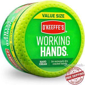 O'Keeffe's Working Hands Hand Cream Moisturizer Value Size, 6.8 oz., Jar