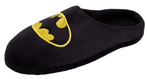 Mens Batman Slippers Novelty Open Back DC Comics Slip On Mules House Shoes Gift