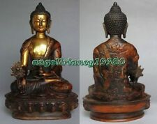 Old Tibetan Bronze Buddhism Bodhisattva Sakyamuni Buddha Archaic Statue 20cm