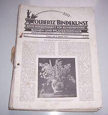 Olbertz Bindekunst Blumenbinderei Blumen Pflanzen Schmuck 1934 Gärtner Zeitung