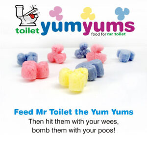 Toilet Targets - Toilet Yum Yums - Boys and Girls - Overcome the Poo Problem