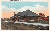 D11/ Potsdam New York NY Postcard 1924 Railroad Depot Station