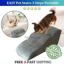 Pets Easy Stairs Ramp 3 Steps Small Dog Indoor House Ladder Portable Cat Climb ✅