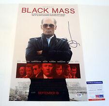 JOHNNY DEPP WHITEY BULGER SIGNED AUTOGRAPH BLACK MASS MOVIE POSTER PSA/DNA COA B