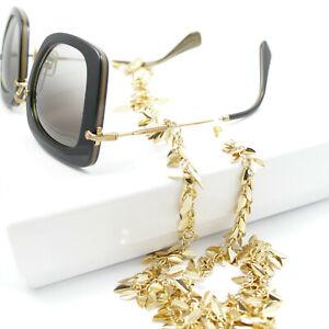 Brillenkette Gold Kette Für Sonne  Brille Lese Brille ,Schmuck kette Goldblätter