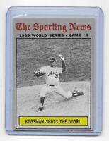 1970 Topps Baseball #309 '69 World Series Game #5 ~ Koosman Shuts the Door Mets