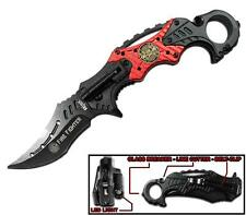 """8.5"""" FIRE FIGHTER TACTICAL FOLDING MULTIFUNCTION KNIFE W RING knives new firemen"""