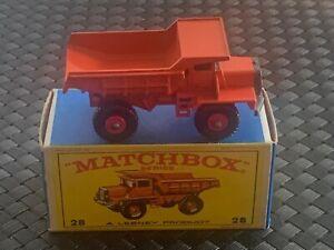 Matchbox Series (Lesney, England) #28 MACK DUMP TRUCK , NEW w/Orig. Box 1968-69