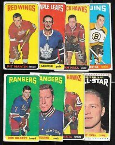 1964-65 TOPPS TALL BOY 64-65 TOPPS TALL BOYS NHL HOCKEY CARD 1-110 SEE LIST