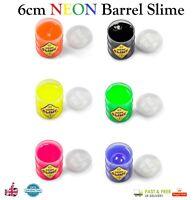 Tobar 6cm XL NEON SLIME BARREL Coloured Putty Kids Girls Boys Toy Gift Filler UK