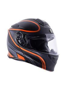 Torc T28 Flat Black Vapor Orange Street Motorcycle Bike Modular Flip Up Helmet