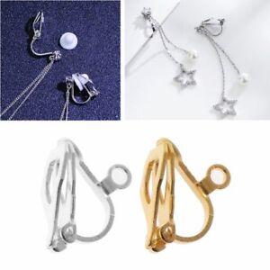 20Pcs Clip-on Earring Converter with Easy Open Loop Earrings Jewelry Finding DIY