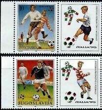 Yugoslavia 1990 ☀ Football World cup Italia - 2v set ☀ MNH **