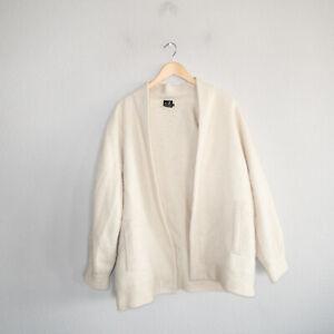 Mon Repos 100% Alpaca Women's Size Medium Open Cardigan Ivory
