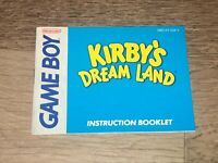 Kirby's Dream Land Instruction Manual Booklet Nintendo Game Boy Authentic