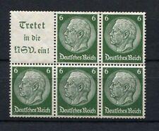German Reich WW II : Hindenburg booklet pane part from 1939 - mint - 2nd choice
