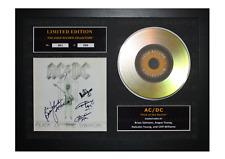 More details for ac/dc signed gold disc album ltd edition framed picture memorabilia