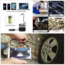 5M Hard Wire Telescoping Wifi Endoscope Inspection Camera  8LED For  iOS Android
