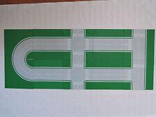 LEGO 10 x Straßenplatten 32x32 Stadt Kurven Gerade Kreuzung Zebrastreifen grün