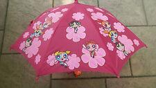 """powerpuff girls VINTAGE PINK UMBRELLA 20"""" child size SUPER RARE!!!"""