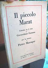 1921 LIBRETTO D'OPERA RIVOLUZIONE FRANCESE MASCAGNI