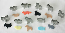 Set of 10 Metal ANIMAL CUTTERS for Sugarcraft and Cake Decorating, Baking