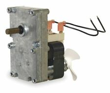 "Pellet Stove Auger Gear Motor 3/8"" Shaft, With Cooling Fan, 1 RPM, 115V, # 1LNG2"