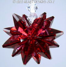m/w Swarovski Crystal Bordeaux Red Star Feng Shui SunCatcher Lilli Heart Designs