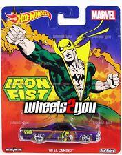 80 EL CAMINO Iron Fist - Hot Wheels Pop Culture - MARVEL - Real Riders