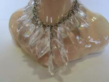 R J Graziano Faceted Lucite Prism Bib Necklace