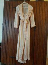 New listing Vintage Silk Satin Robe & Nightgown Eve Stillman Couture M Blush Mint Gorgeous