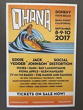 Ohana fest Dana Point CAL Eddie Vedder Jack Johnson Social Distortion Pixies Han
