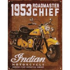 "Indian Motorcycle "" 1953 Roadmaster Sign"""