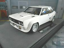 FIAT 131 Abarth Rallye Street Plainbody ready to race white we Top Marques 1:18
