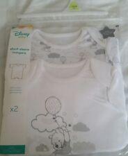 Disney Winnie The Pooh ~ 2x Baby Boys / Girls  Bodysuits/Vests/Romper ~ 12-18m