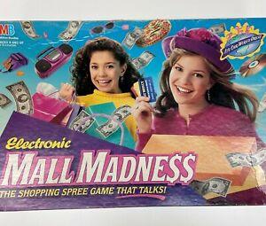 1989 Electronic Mall Madness Board Game Milton Bradley