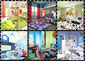 5PC MICROFIBER REVERSIBLE COMFORTER BEDDING & MATCHING PLAYMAT KID,GIRL,BOY ROOM