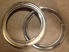 fiat 1100 R, 124 Coupe cornici fari, light chrome rings