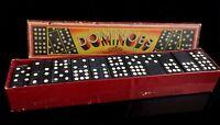 Vintage wooden dominoes, Jumbo set, c1950's