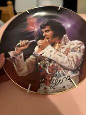 "Bradford Exchange Elvis Presley ""The King"" Remembering Elvis Collectible Plate"