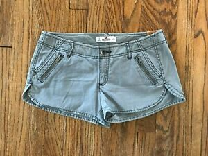 NWT The Hollister Low Rise Gray Stretch Khaki Chino Shortie Runner Shorts 3, 26