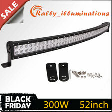52 INCH 300W LED CURVED WORK LIGHT BAR FLOOD SPOT COMBO OFFROAD 4X4 EP Save 50''