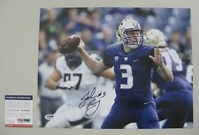 JAKE BROWNING signed WASHINGTON HUSKIES 11x14 Photo - PSA RookieGraph RG05445
