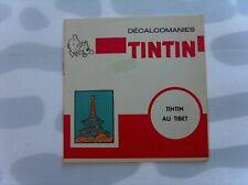 HERGE TINTIN LIVRET COMPLET DECALCOMANIES DAR TINTIN AU TIBET TBE