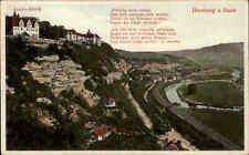 Spina Castello a.d. Saale regione Camburg ~ 1910 Goethe Castello e versi; vecchia AK color