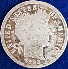 1893 Silver Barber Dime  ID #99-37