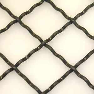 Wellengitter blank 2000x1000 mm Gittermatte aus gewobenen Drähten Gitter Zaun